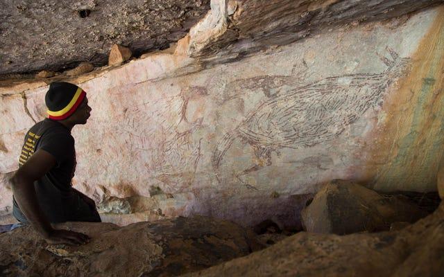 もちろん、オーストラリアで最も古くから知られている岩絵はカンガルーのものです