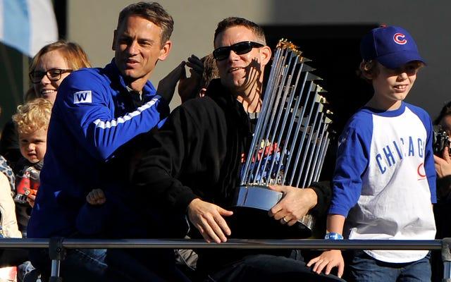 Laporan: Piala Seri Dunia Cubs Rusak Saat Konser Amal Theo Epstein Di Boston
