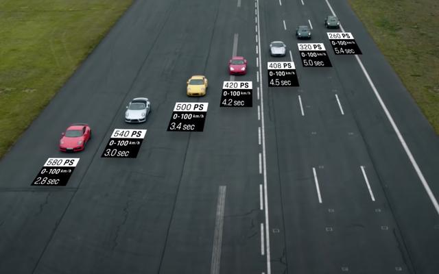 Vea cada Porsche 911 Turbo Generation enfrentarse cara a cara en una carrera de resistencia