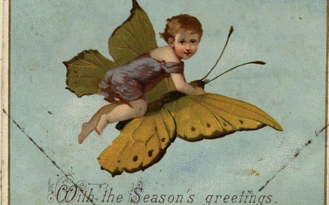 Les cartes de Noël du dix-neuvième siècle sont pures et sucrées WTF