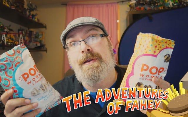 ポップワークスの塩キャラメル&ファッジ&クッキー&クリームポップコーン:スナックタクレビュー