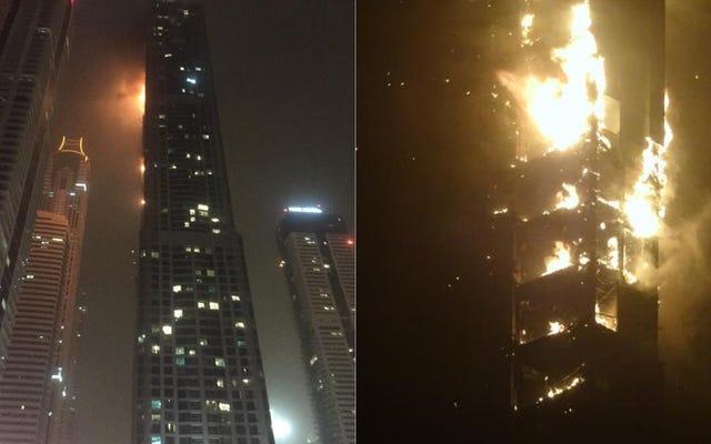 79-piętrowa wieża mieszkalna w Dubaju płonie