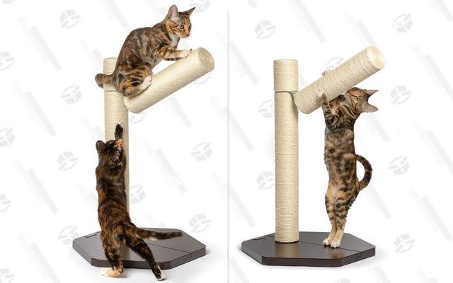 あなたの猫はこの割引されたPetFusionスクラッチポストで枝分かれすることができます