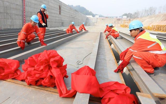 災害をシミュレートする中国のタイタニックレプリカの建設がついに始まる