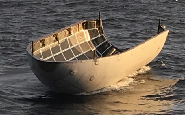 Le carénage de la charge utile SpaceX survit malgré un filet de récupération manquant de `` quelques centaines de mètres ''