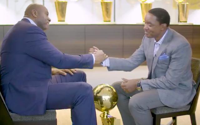 Смотрите: Мэджик Джонсон и Исайя Томас восстанавливают дружбу после 25 лет мелочности