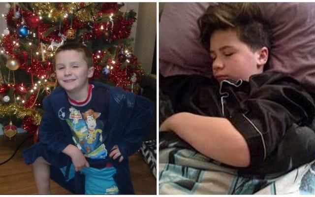 まれな睡眠美症候群の少年は、5年ぶりのクリスマスを目覚めさせます