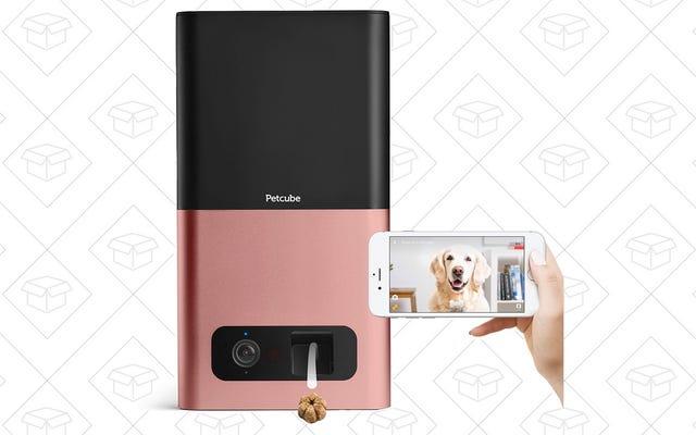 Dites bonjour à vos animaux de compagnie de n'importe où avec cette caméra de distribution de friandises à 135 $