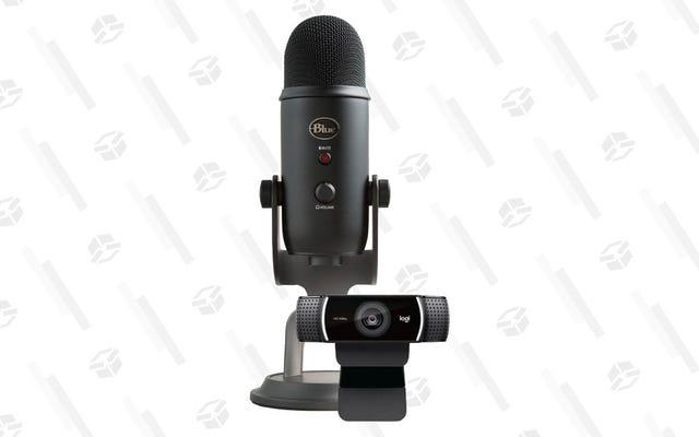 Complétez votre configuration de streaming avec cet ensemble de micro et webcam Blue Yeti pour 120 $