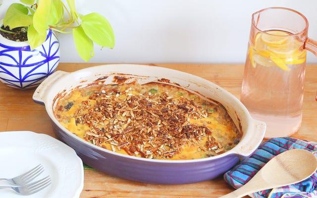 Brokoli Bira Peynirli Güveç Potluck İhtiyaçlarınızı Yükseltiyor