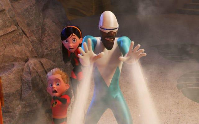 Wiele lat później możemy wreszcie nadać twarzy Honey, żonie Frozono w The Incredibles