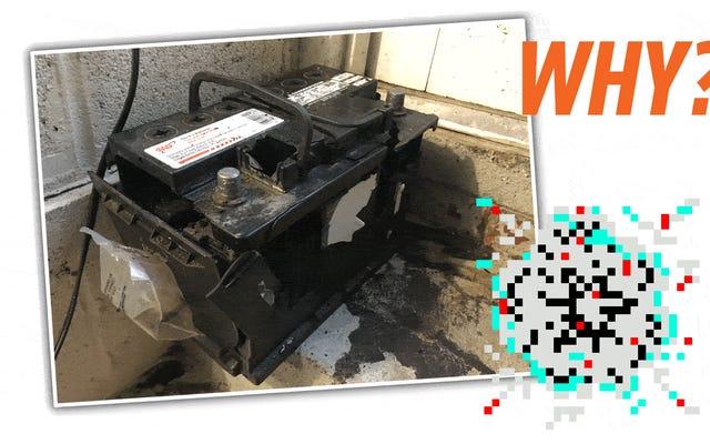 私の家で車のバッテリーが爆発しましたが、なぜかよくわかりません。