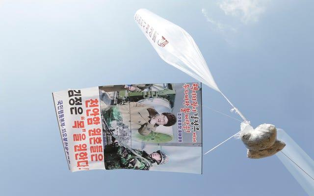 प्रचारकों ने हजारों एंटी-जोंग-उन फ़्लायर्स को उत्तर कोरिया में भेजा