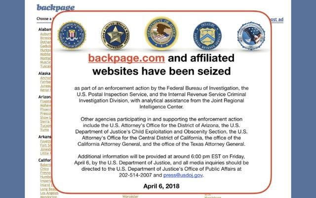 Le DHS et le DOJ recherchent maintenant des sites d'escorte et de massage qui ont explosé après le retrait de Backpage