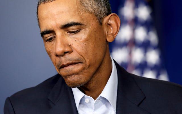 彼の大統領職の間にオバマは黒人の白い憎しみが賠償をパイプの夢にしたことを発見しました