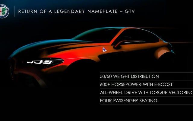Alfa Romeo GTV đã trở lại với hơn 600 mã lực