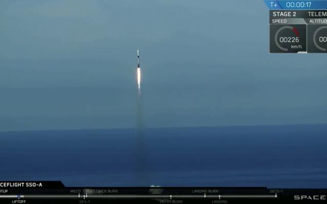 SpaceX a battu quatre records lors du lancement de la fusée Falcon 9 aujourd'hui