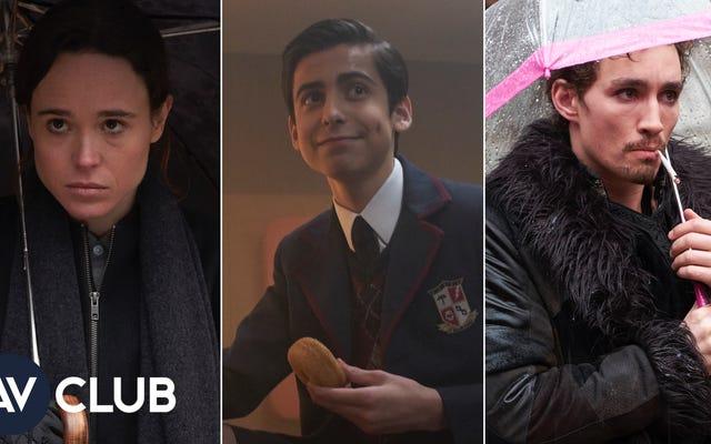 Ellen Page, Robert Sheehan y Aidan Gallagher hablan de patear traseros en The Umbrella Academy