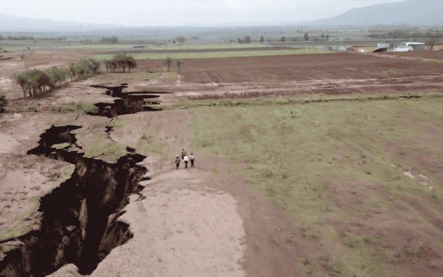 Questa enorme spaccatura che cresce nel Kenya centrale dimostra come l'Africa si stia diffondendo in due continenti