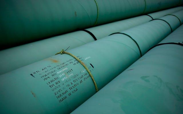 ท่อส่งน้ำมันคีย์สโตนรั่วไหลออกไป 210,000 แกลลอนในเซาท์ดาโคตา