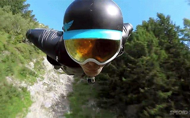 Als ich diesen Kerl in einem Wingsuit unglaublich nahe am Boden fliegen sah, wurde ich fast ohnmächtig