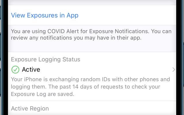 Si actualizó recientemente su iPhone, asegúrese de que su seguimiento de contactos Covid-19 aún esté activo