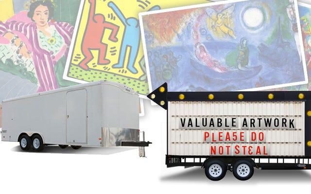 Szokujące: jeśli zostawisz cenną sztukę w zwiastunie na ulicy Los Angeles, może zostać skradziona