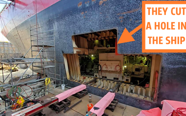 米国沿岸警備隊が最大の船のモーターを置き換える方法は驚異的です