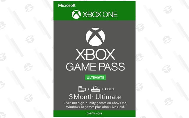 Xbox Game Pass Ultimateは、数百のゲームとXbox Liveゴールドを提供し、25ドルで3か月間入手できます