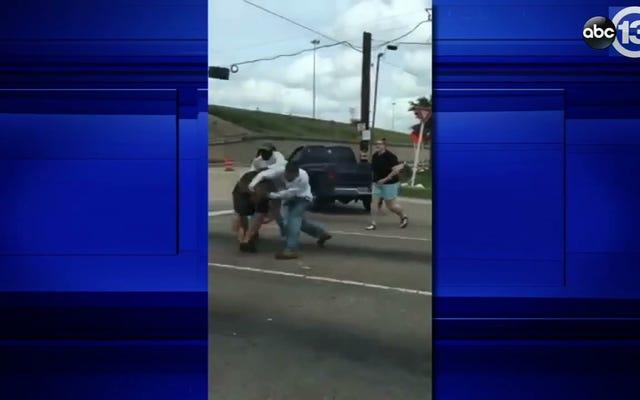 Este es un incidente increíble de furia en la carretera