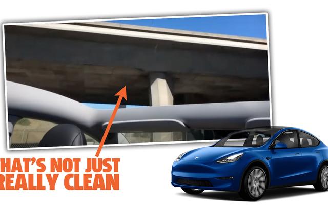 El techo del nuevo Tesla Model Y sale volando en el primer viaje a casa