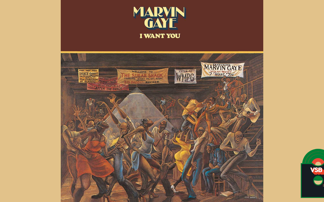 28 Days of Album Cover Blackness With VSB, Day 14: Marvin Gaye's I Want You (1976)