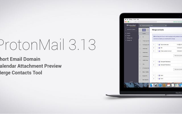 ProtonMailは暗号化愛好家のためのより短い電子メールドメインと他の新機能を開始します
