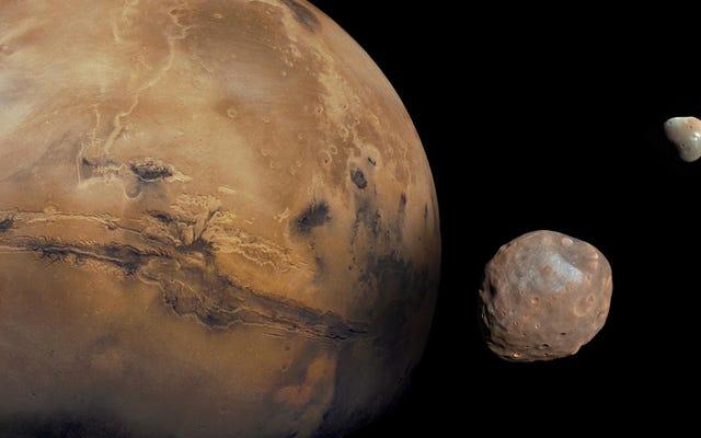 Plus de preuves que les lunes de merde de Mars auraient pu se former après un astéroïde géant
