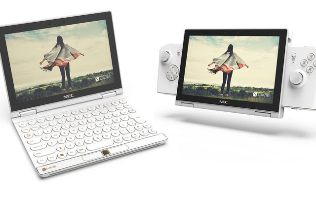 LaVie Mini Concept là sự kết hợp hoang dã giữa máy tính xách tay và Nintendo Switch