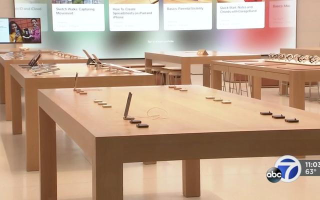 Sie stehlen Produkte im Wert von 50.000 US-Dollar, die in weniger als 30 Sekunden in einem Apple Store ausgestellt werden