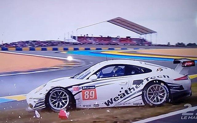 ชม Porsche 911 กินกำแพง Le Mans ใน Slow-Mo