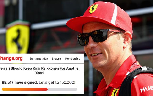 88,000人以上がキミライコネンをフェラーリF1チームに留めておくためのChange.org請願書に署名しました