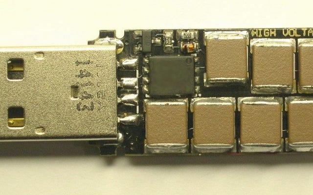 Этот стильный USB-накопитель приспособлен для жарки вашего компьютера