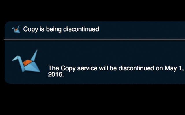 Почти неограниченное количество облачных хранилищ Copy.com закрывается