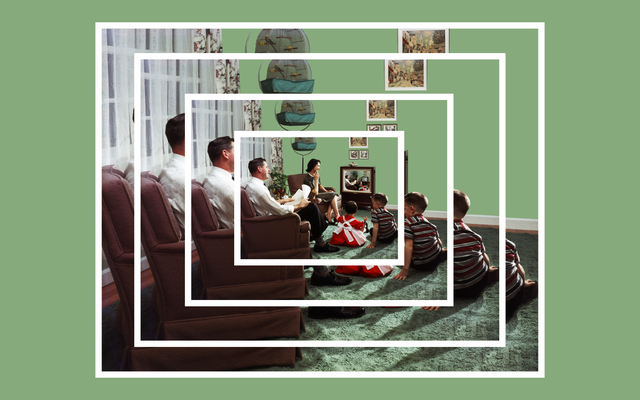 La habitación familiar americana informal, moderna y absolutamente normativa de la posguerra
