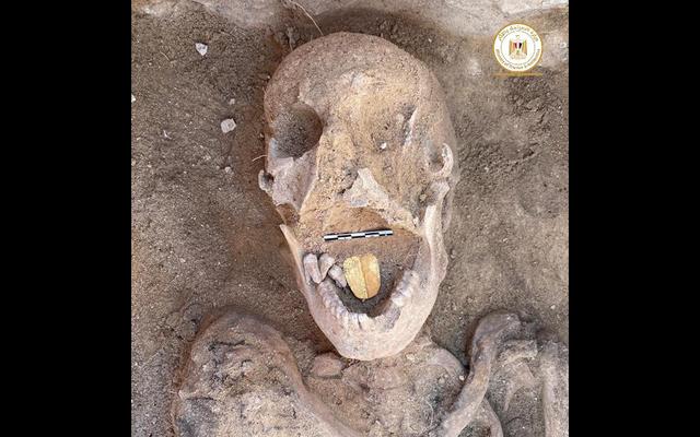 エジプトの墓で見つかった黄金色のミイラ