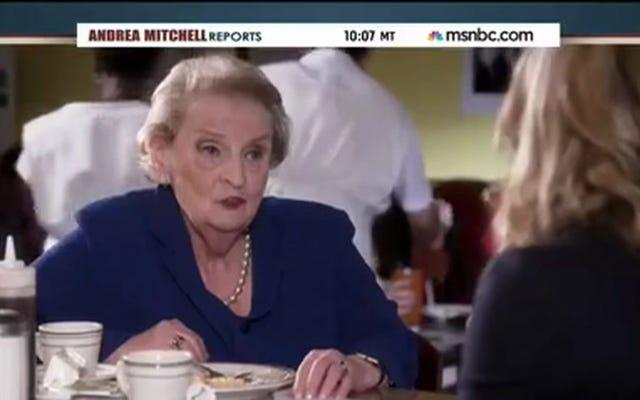 Madeleine Albright a adoré son rendez-vous gaufré avec Leslie Knope