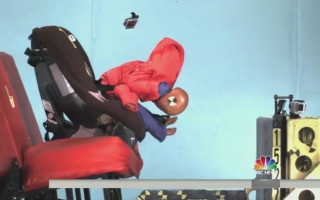 PSA: i bambini non dovrebbero indossare cappotti invernali nel seggiolino dell'auto