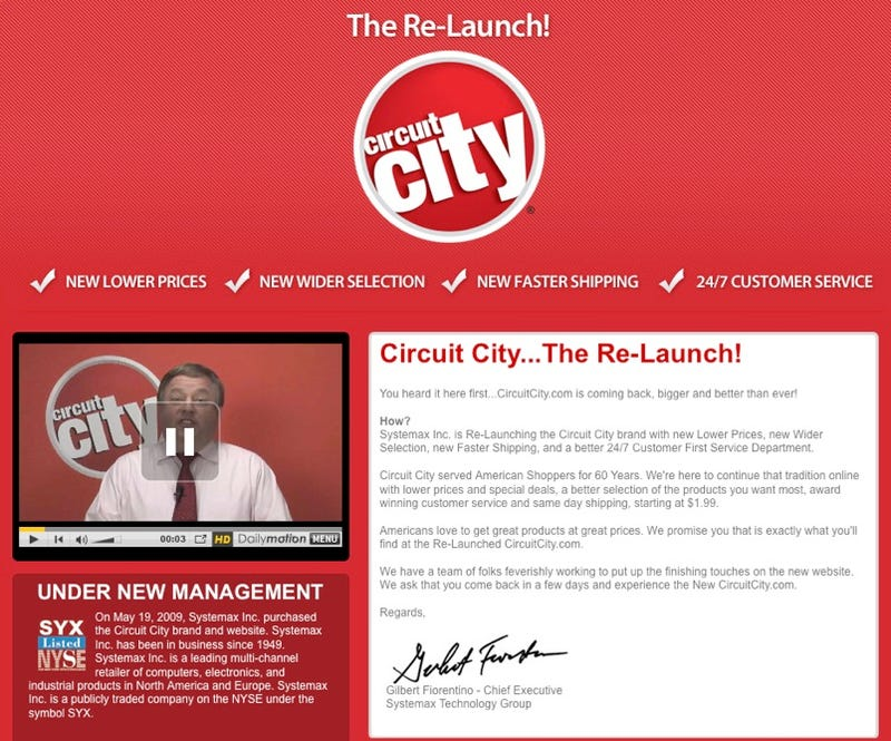 Illustration for article titled Rebooted CircuitCity.com Launching In the Next Few Days