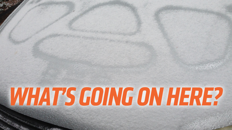 This Is Why Snow Makes Those Patterns On Your Cars Hood