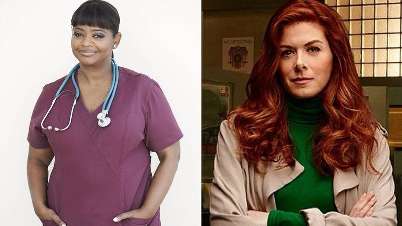 Octavia Spencer (Fox) (left), Debra Messing (NBC)