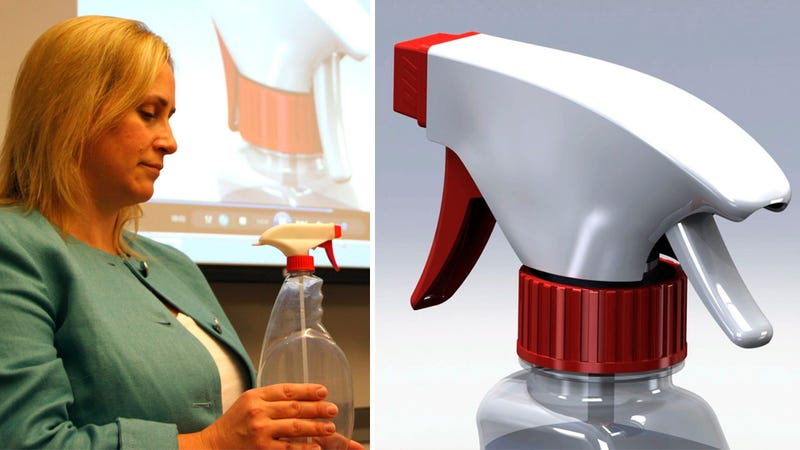 Illustration for article titled This Spray Bottle Trigger Has a Safety