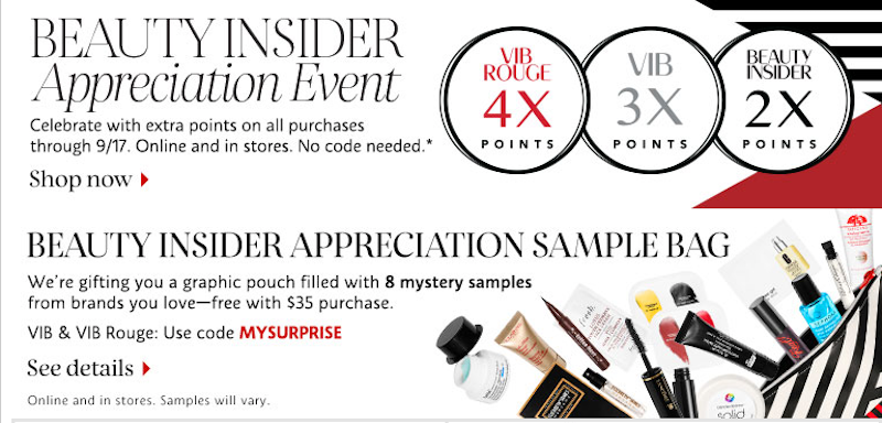 Earn extra Beauty Insider points, this week only