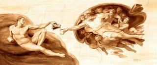 Illustration for article titled Famous Paintings Reproduced In Coffee